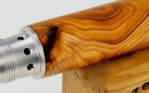 Oberflächenbehandlung bei Holzschreibgeräten 2
